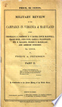 Military Review of the Campaign in Virginia   Maryland Book