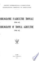 Bibliography of Tropical Agriculture
