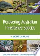 Recovering Australian Threatened Species