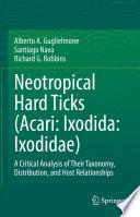 Neotropical Hard Ticks  Acari  Ixodida  Ixodidae