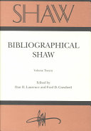 Bibliographical Shaw Book PDF