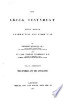 The Greek Testament The Epistles And The Apocalypse
