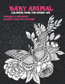Baby Animal   Coloring Book for Grown Ups   Armadillo  Wolverine  Raccoon  Cheetah  and More
