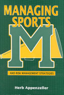 Managing Sports And Risk Management Strategies Book PDF