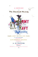 A History of the Cincinnati Society of Ex-Army and Navy Officers
