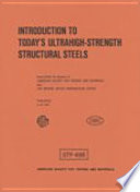 Introduction to Today s Ultrahigh strength Structural Steels