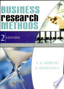 """Business Research Methods"" by S. N. Murthy, U. Bhojanna"
