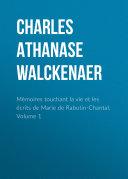Pdf Mémoires touchant la vie et les écrits de Marie de Rabutin-Chantal, Volume 1 Telecharger