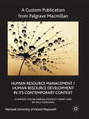 Human Resource Management/Human Resource Development in Its Contemporary Context