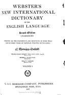 New International Dictionary Of The English Language