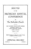 Minutes of the Michigan Annual Conference of the Methodist Church