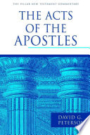 """""""The Acts of the Apostles"""" by David Peterson"""