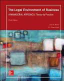 Legal Environment of Business  A Managerial Approach  Theory to Practice Book