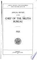 Annual Report of the Chief of the Militia Bureau