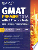 Kaplan Gmat Premier 2016 With 6 Practice Tests PDF