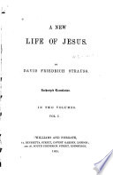 A New Life of Jesus Book