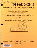 Operator and Organizational Maintenance Manual