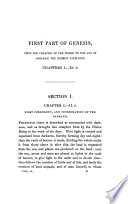Historical and Critical Illustrations of the First Part of Genesis