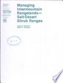Managing Intermountain Rangelands Book PDF