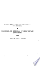 Thomas Walsingham  quondam monachi S  Albani  historia anglicana  A D  1381 1422