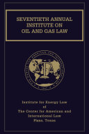 Institute on Oil and Gas Law