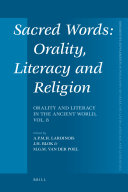 Sacred Words  Orality  Literacy and Religion