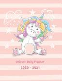 Unicorn Daily Planner 2020 2021