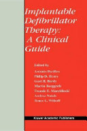 Implantable Defibrillator Therapy  A Clinical Guide