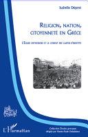 Religion, nation, citoyenneté en Grèce [Pdf/ePub] eBook