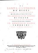Pdf Vita Di Santa Caterina De'Ricci Dell'Ordine Di San Domenico
