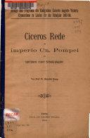 Ciceros Rede de imperio Cn. Pompei als Specimen einer Schulausgabe