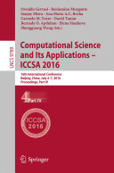 Computational Science and Its Applications -- ICCSA 2016