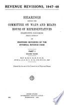Revenue Revisions  1947 48 Book