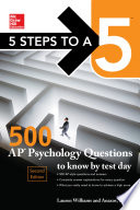5 Steps to a 5  500 AP Psychology Questions to Know by Test Day  Second Edition