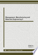 Management  Manufacturing and Materials Engineering II Book