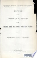 Report of the Board of Managers of the National Home for Disabled Volunteer Soldiers for the Fiscal Year Ending June 30  1893