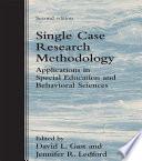 Single Case Research Methodology