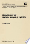 Foundations of the Numerical Analysis of Plasticity Book PDF