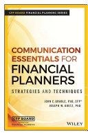 Communication Essentials for Financial Planners [Pdf/ePub] eBook