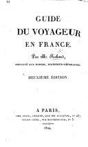 Guide du voyageur en France. Deuxième édition