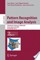 Pattern Recognition And Image Analysis Book PDF