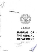 Manual of the Medical Department