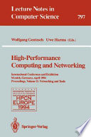 High performance computing and networking Book