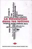 Pdf La Révolution dans les lettres Telecharger