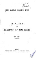 Minutes of Meetings of Managers