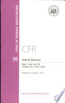 Code Of Federal Regulations Title 26 Internal Revenue Pt 1 Sections 1 170 1 300 Revised As Of April 1 2011