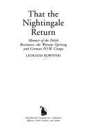 That the Nightingale Return