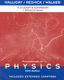 Fundamentals of Physics  A Student s Companion e Book to accompany Fundamentals of Physics  A Student s Companion