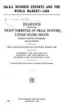 Small Business Exports and the World Market  1960