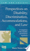 Perspectives on Disability, Discrimination, Accommodations, and Law
